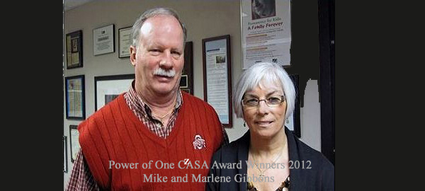 CASAs Mike and Marlene Cervenec CASA Power-of-One Award - 2012